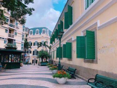 【マカオ世界遺産】聖オーガスティン広場はパステルカラーが美しい穴場