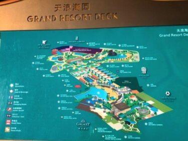 マカオの世界最大級プール・グランドリゾートデッキ2020