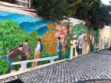 マカオ新名所!ストリートアートがおしゃれな媽閣廟バラ広場