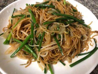 【香港マカオ】簡単時短レシピ!香港風焼きそば豉油皇炒麵